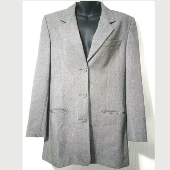 Nordstrom Jackets Coats Bill Burns For Womens 10 M Gray Blazer